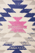 Marrakesh Pastel Distressed Diamond Patterned Rug
