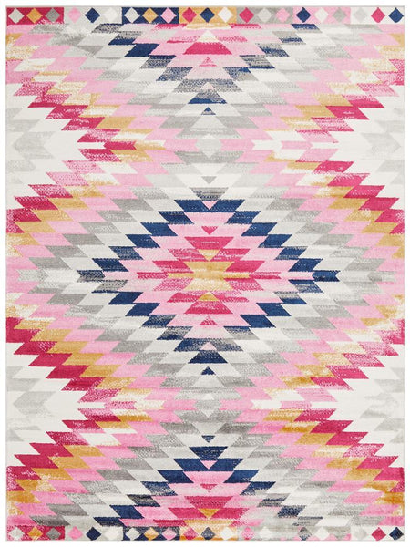 Tulum Pastel Tribal Rug in Multi