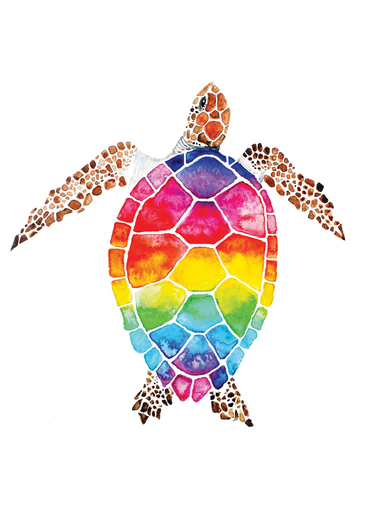 Rainbow Turtle Prints Prints for Conservation