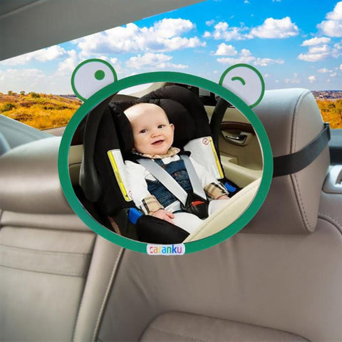 17.8*21cm  Cartoon frog infant mirror Car Accessories Rearview Mirror Wide View Rear for Baby Safety Seat Baby Safety Equipment
