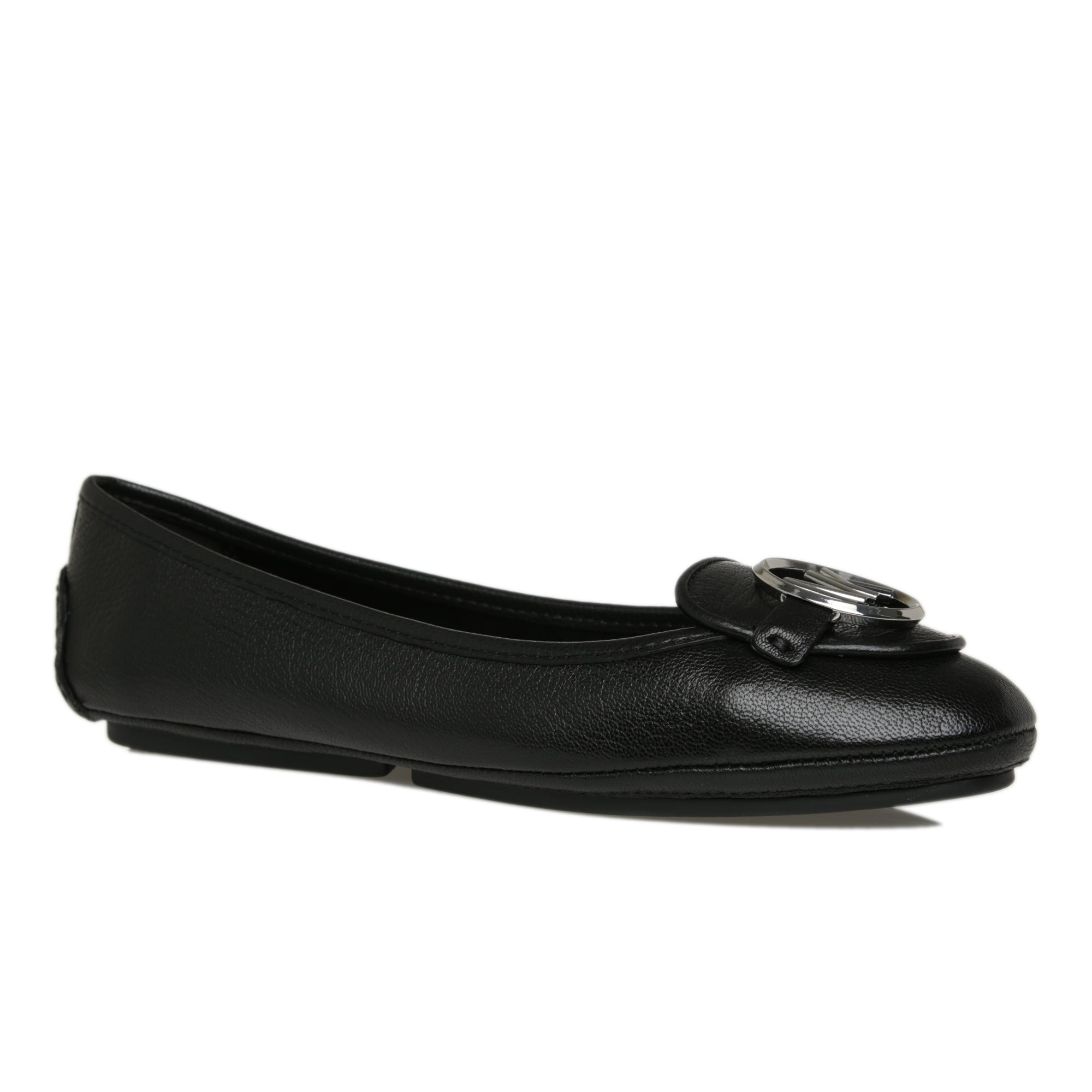 Lillie Leather Moccasin Black