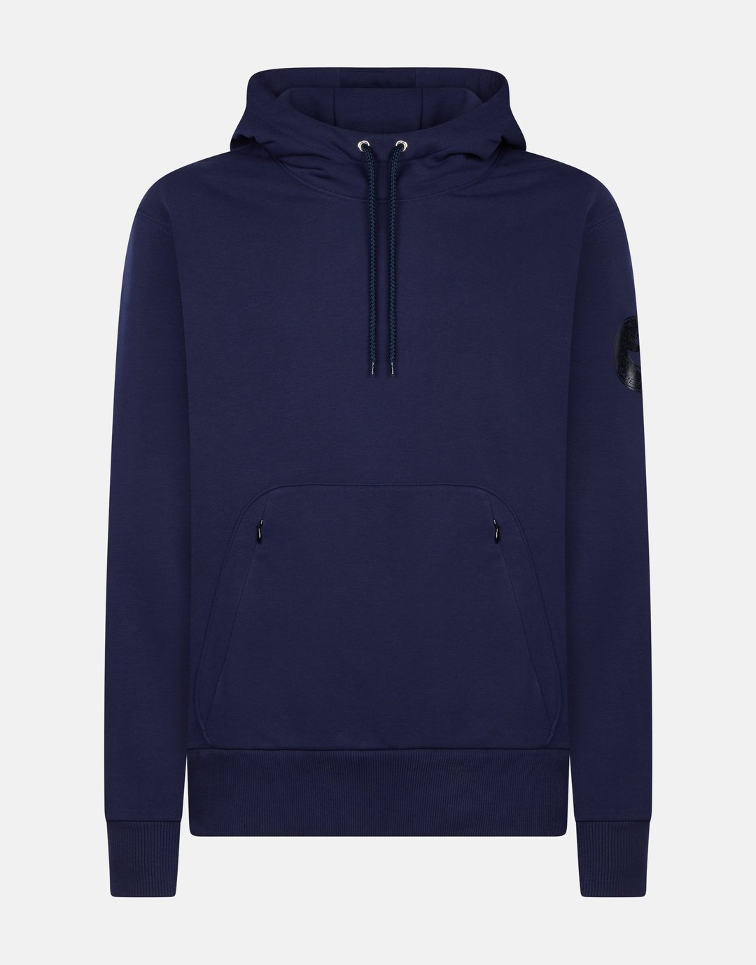 Flee Knit Hooded Sweatshirt Evening Blue