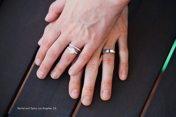 ceejayeff his and hers diamond wedding rings in white gold