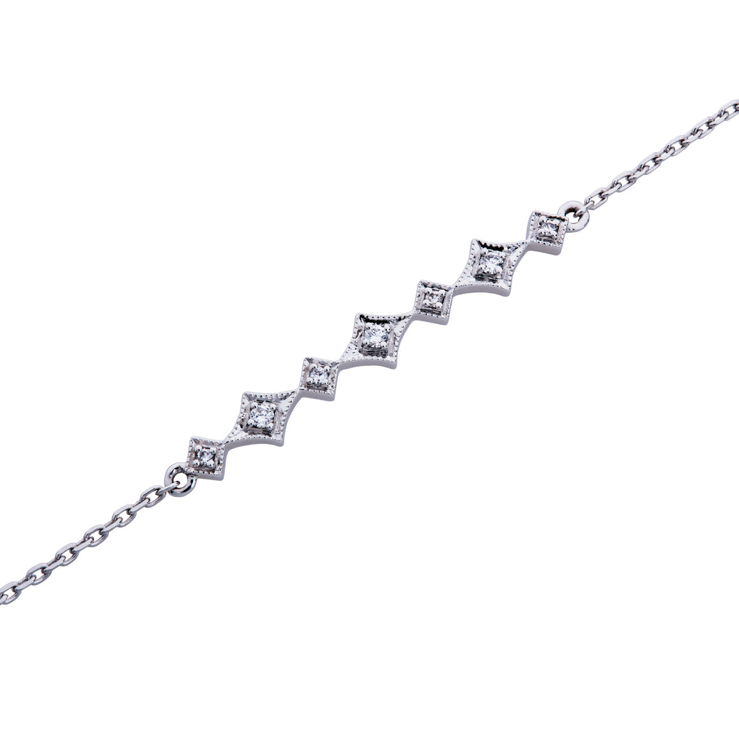 Ceejayeff Delicate white gold and diamond star bracelet