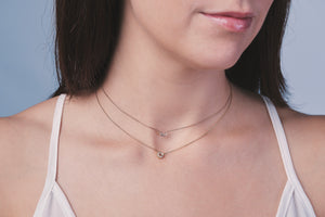 in stock - circle marq necklace
