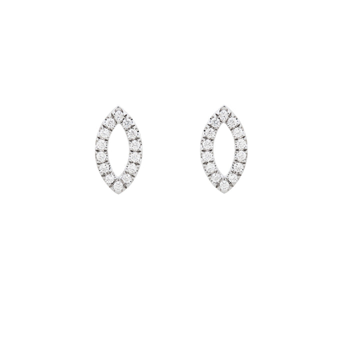 Ceejayeff diamond Marq stud earring in white gold