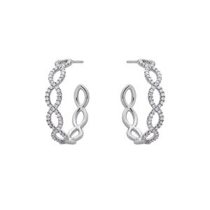 Ceejayeff diamond Marq hoop earring in white gold
