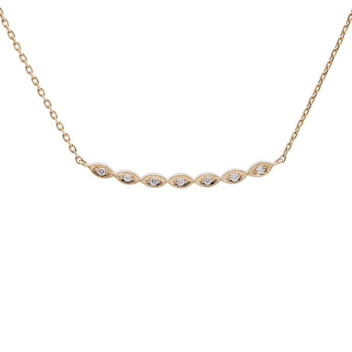 Ceejayeff Marq strand diamond bar necklace in yellow gold