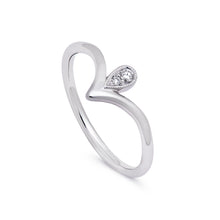 Load image into Gallery viewer, Ceejayeff pear point diamond ring in white gold
