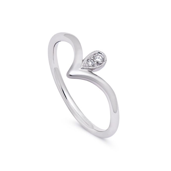 in stock - pear point ring