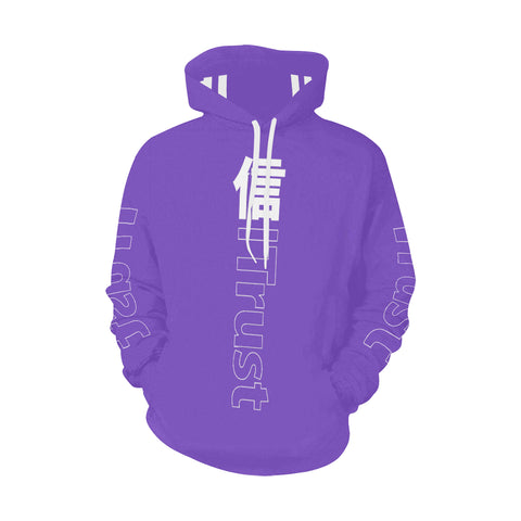 TRUST GRAPE JAPAN HOODIE All Over Print Hoodie (for Men)