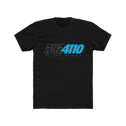 AYA41TEN CYAN Men's Cotton Crew Tee