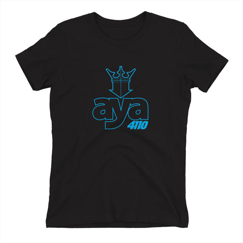 AYA CROWN CYAN Women's t-shirt
