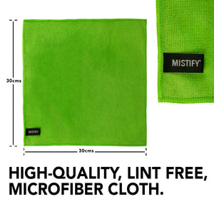 Mistify 500 ml Giant Spray Bottle Natural Screen Cleaner and 2 Microfibre Cloth Pack