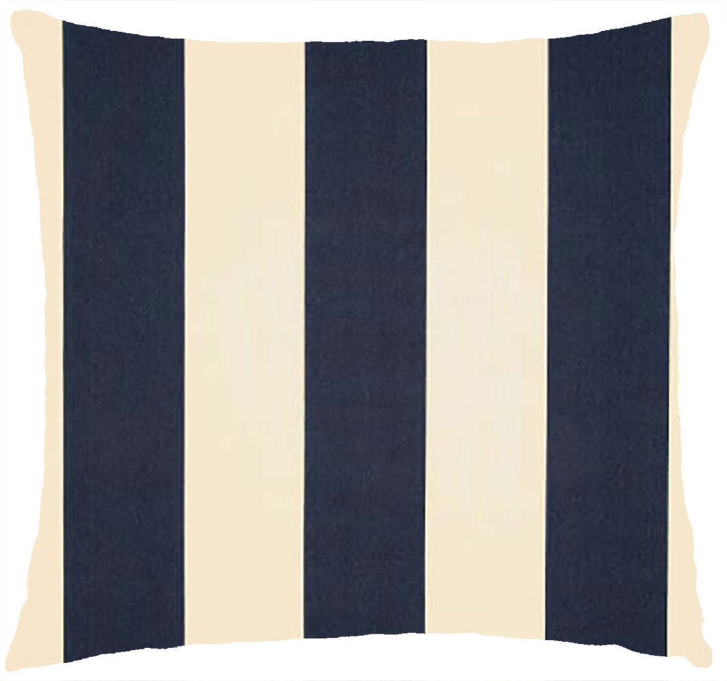 Premier Vertical Stripe Navy and Ivory