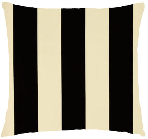 Premier Vertical Stripe Black and Ivory