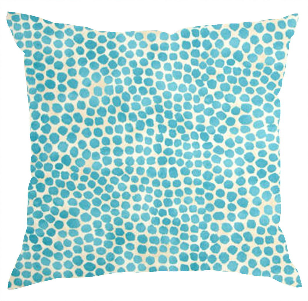 Puff Dotty Turquoise