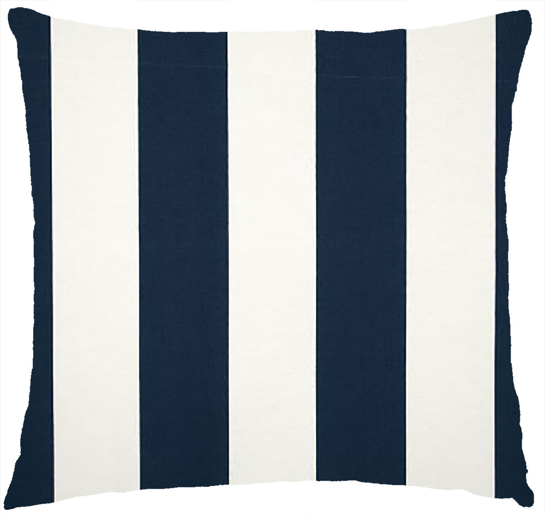 Vertical Stripe Navy and White