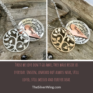 memorial necklaces,memorial sterling silver jewelry | thesilverwing