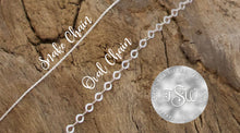 Load image into Gallery viewer, Sterling silver chain examples | TheSilverWing.com
