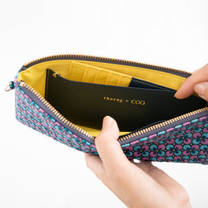 thorns + COQ ORGANIZER WALLET (クローバー/BLU)