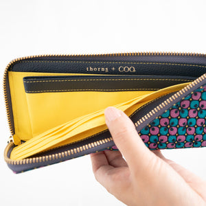 thorns + COQ LONG WALLET (クローバー/BLU)