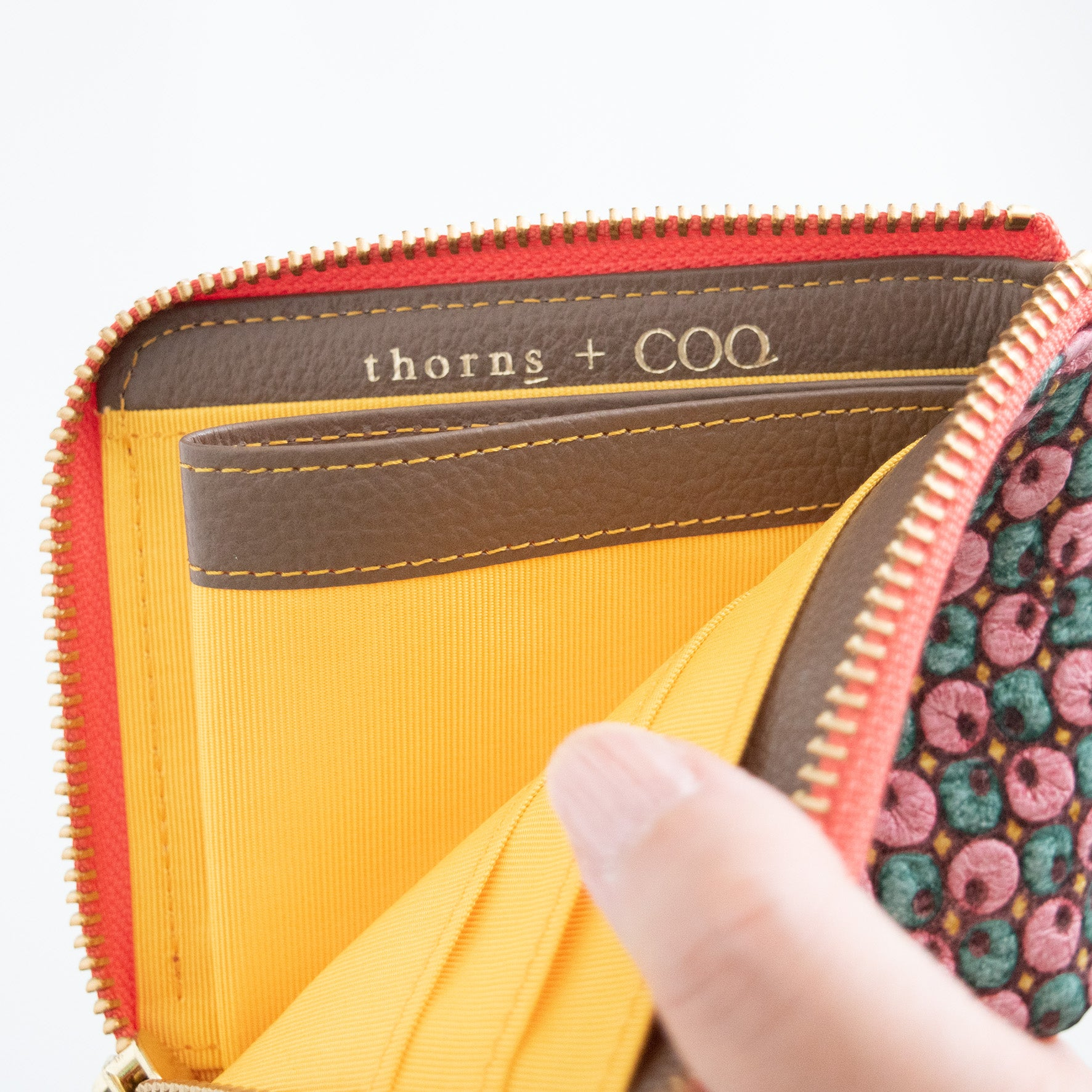 thorns + COQ SMALL WALLET(クローバー/PNK)