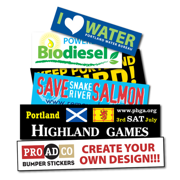 "Custom Decals 3.5"" X 11"" - 500 count"