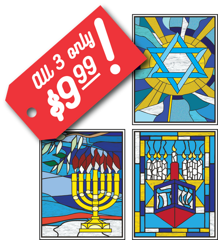 Hanukkah Window Clings - set of 3