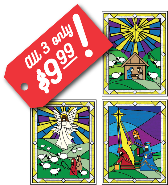 Nativity Window Clings - set of 3