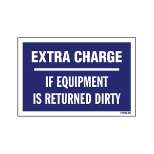 "Equipment Rental Decal 2"" X 3"" [NWD-56] 25 count"