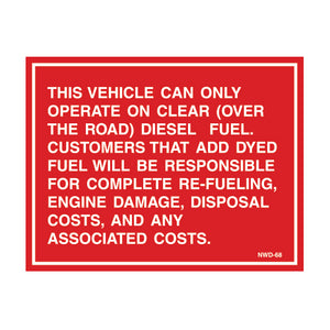 "Equipment Rental Decal 4.25"" X 5.5"" [NWD-68] 25 count"