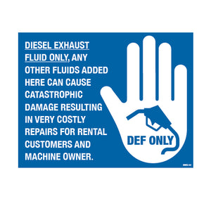 "Equipment Rental Decal 4.25"" X 5.5"" [NWD-17] 25 count"