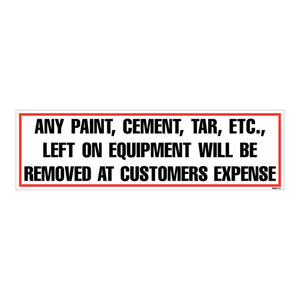 "Equipment Rental Decal 3"" X 10"" [NWD-12] 25 count"