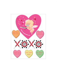 Valentine's Day Decal Set (1) Removeable
