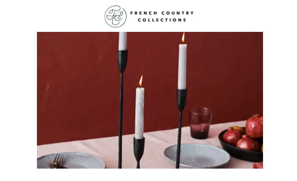 Hedgerow - French Country - Candlesticks