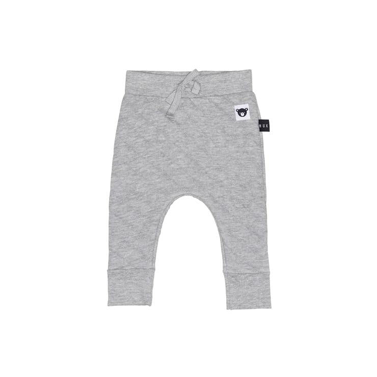 Huxbaby Stitch Drop Crotch Pant-Grey Marle