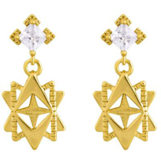 Lindi Kingi Baroque Earrings-Gold