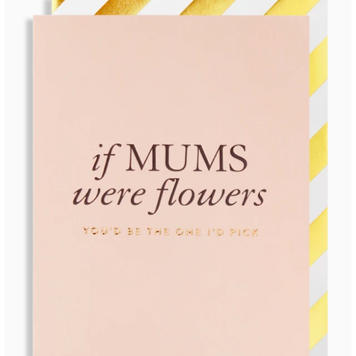 Postco Card/if MUMS were flowers