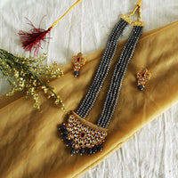 Kundan Necklace (Ash grey)