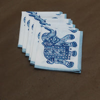 Elephant Hand block printed napkins made from recycled cotton