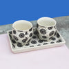 Floral Monochrome Kulhad Tea Conversations made with ceramic