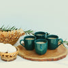 Set of 4 Mini Tea cups set in Turquoise color