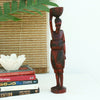 Wooden tribal woman for home decor