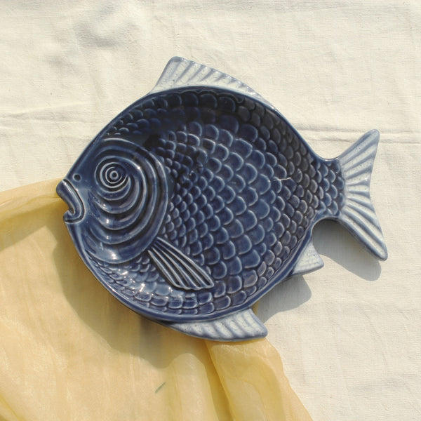 Unique premium quality fish shaped ceramic platter
