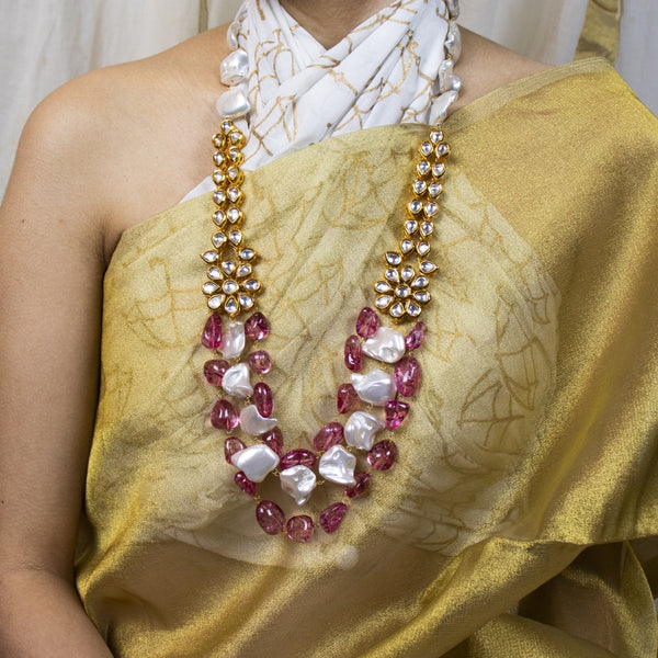 Ruby & Mother of Pearl Necklace