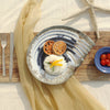premium quality sea shell shaped ceramic plates for dining purposes