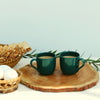 Set of 2 Mini Tea cups set in Turquoise color