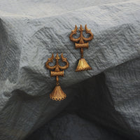 Imperfect by design, our Trishul earrings are made with unpolished brass. These earrings make a very bold style statement and is a unique gift for your mother, sister, wife or friend.