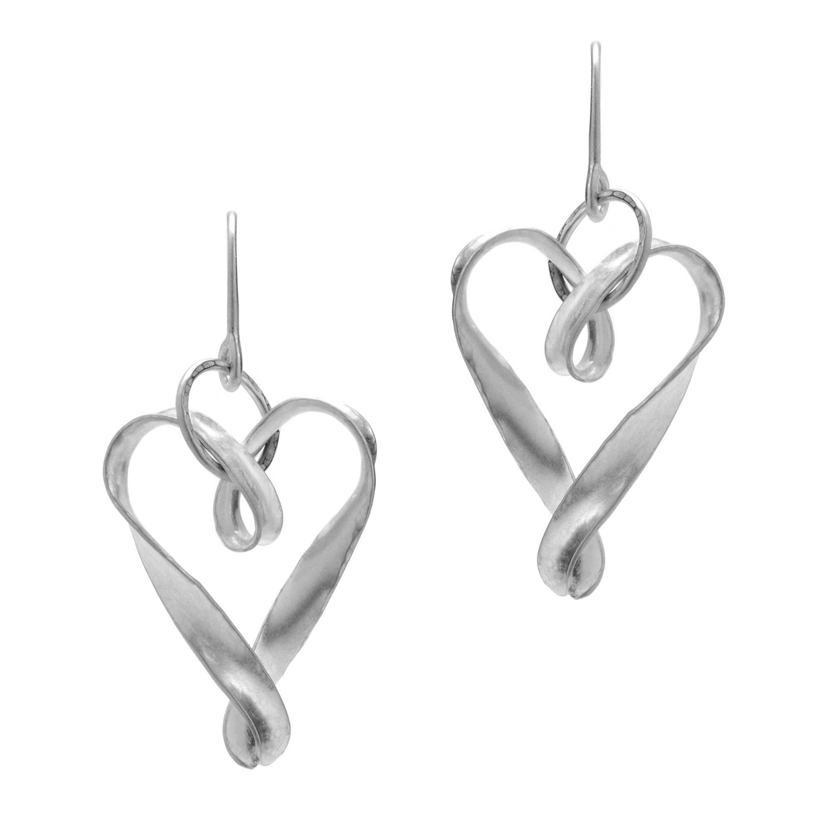 Simple heart drop earrings